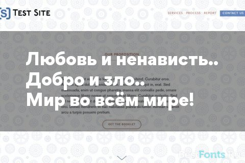 Шрифт Gordita
